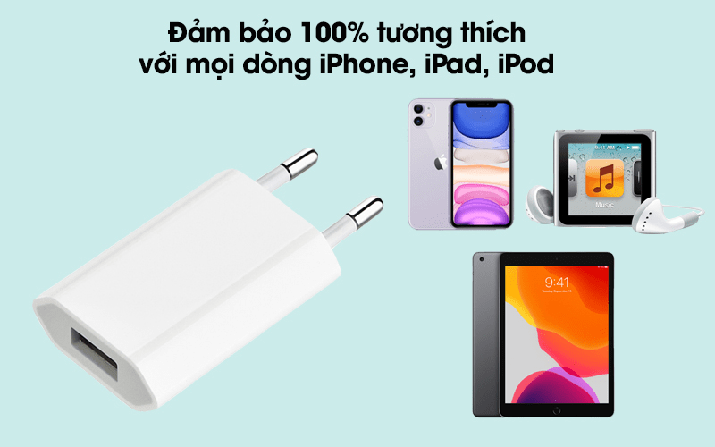 củ mua sạc 5w iphone/ipad/ipod quảng ngãi