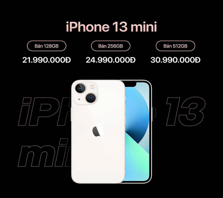 giá bán sản phẩm iphone 13 mini
