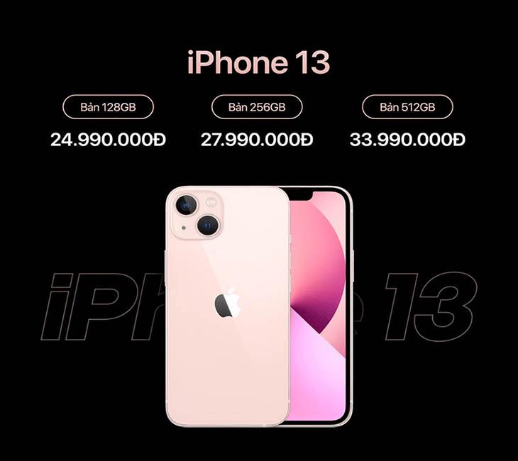giá bán sản phẩm iphone 13