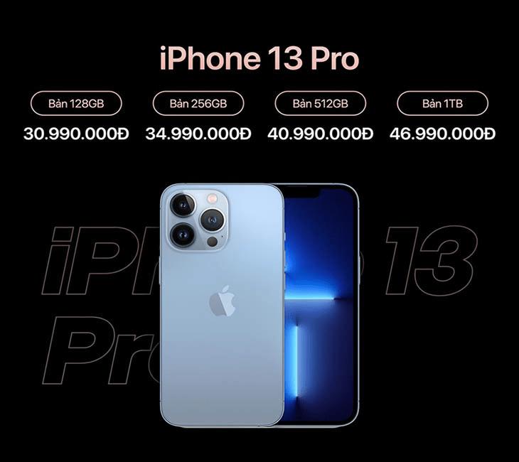 giá bán sản phẩm iphone 13 pro